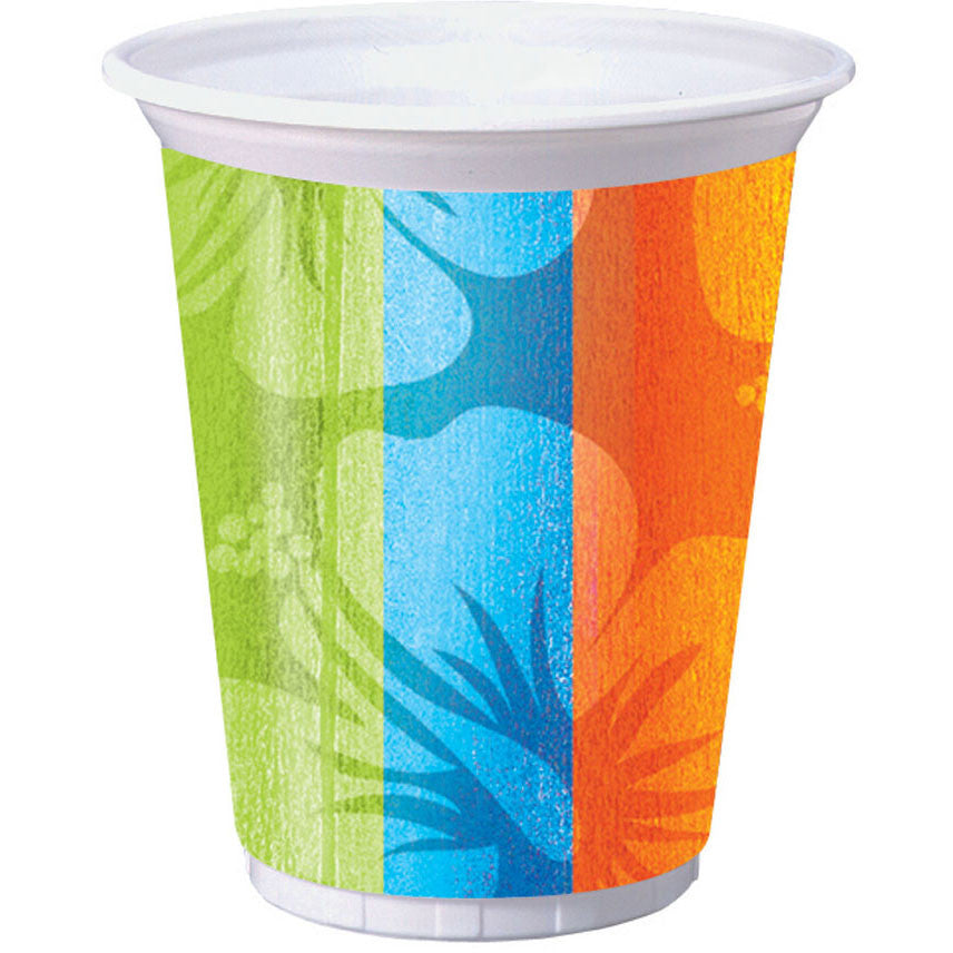 Aloha Summer 16oz Plastic Cups (8ct)