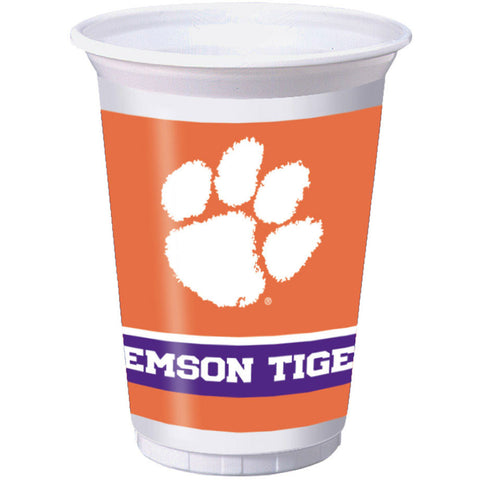 Clemson University 20oz Plastic Cups (8ct)
