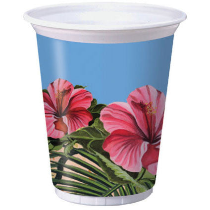 Polynesian Party 16oz Plastic Cups (8ct)