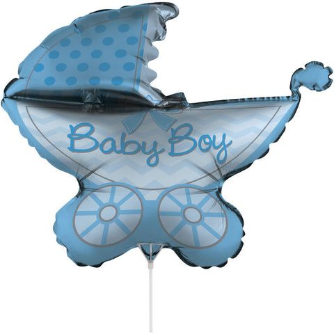 "It's a Boy Stroller 30"" Air Filled Foil Balloon with Stick"