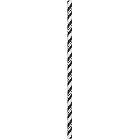 Black Velvet Striped Paper Straws (24ct)