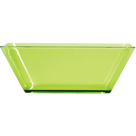 "Translucent Green 5"" Plastic Square Serving Bowls (4ct)"