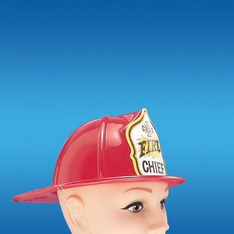 Fireman Hat-Plastic-Red