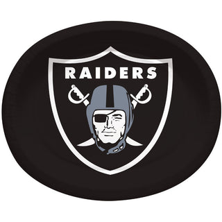 Oakland Raiders Oval Banquet Plates (8ct)