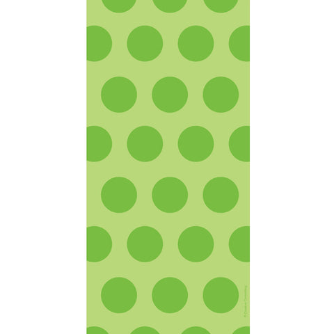 Fresh Lime Dots Cello Bags (20ct)