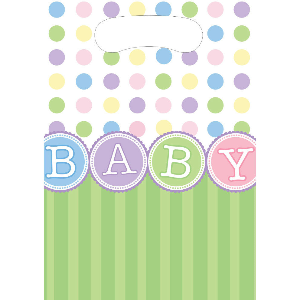 Polka Dot Baby Loot Bags (8ct)