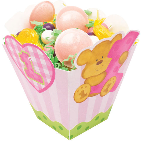 Bears 1st Birthday - Girl Treat Boxes