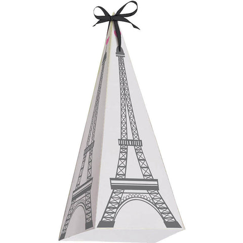 Party in Paris Favor Boxes, Cone Shaped w/ Handle