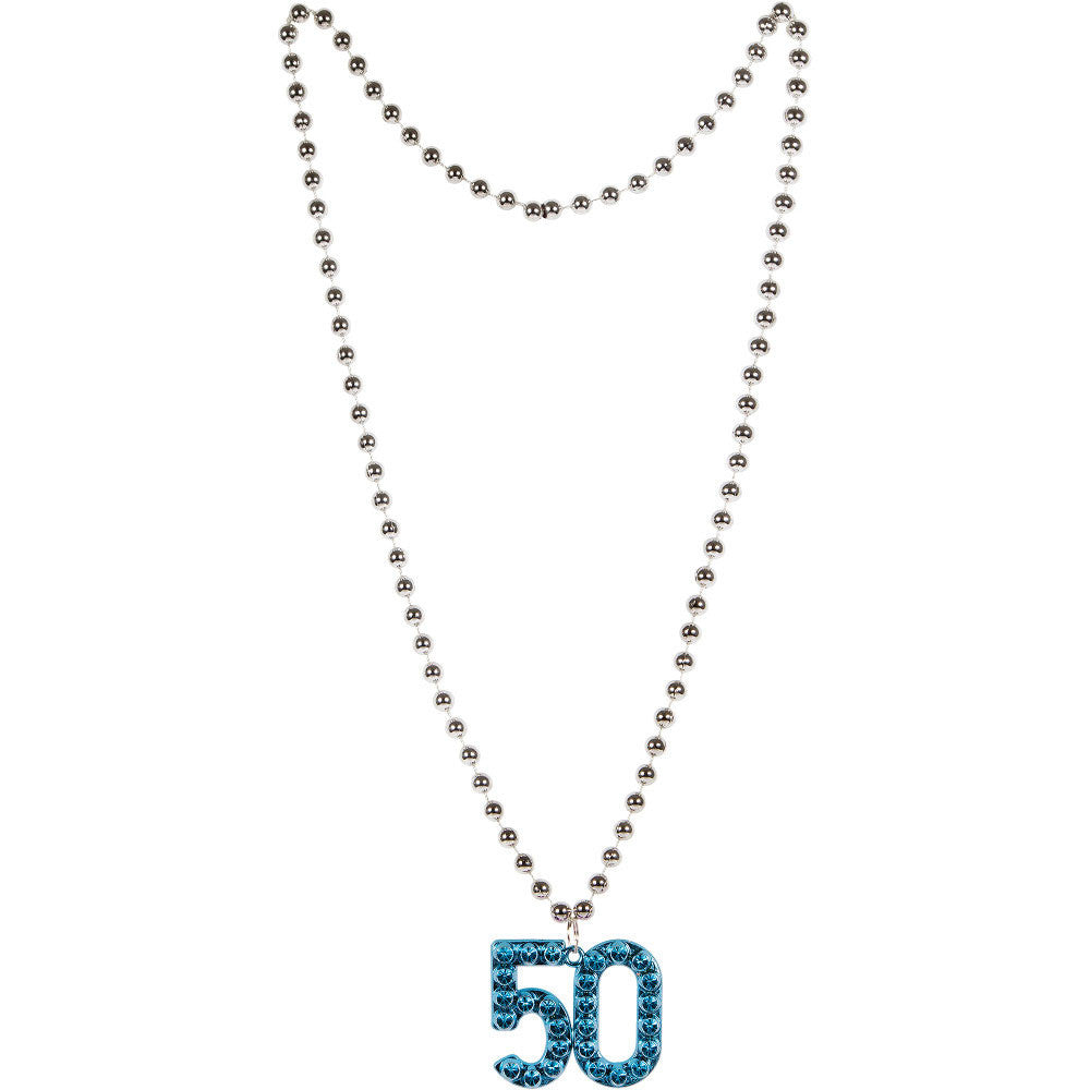 Age 50 Plastic Medallion Necklace