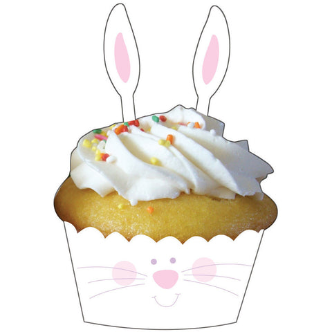Bunny Ears Cupcake Wraps and Picks