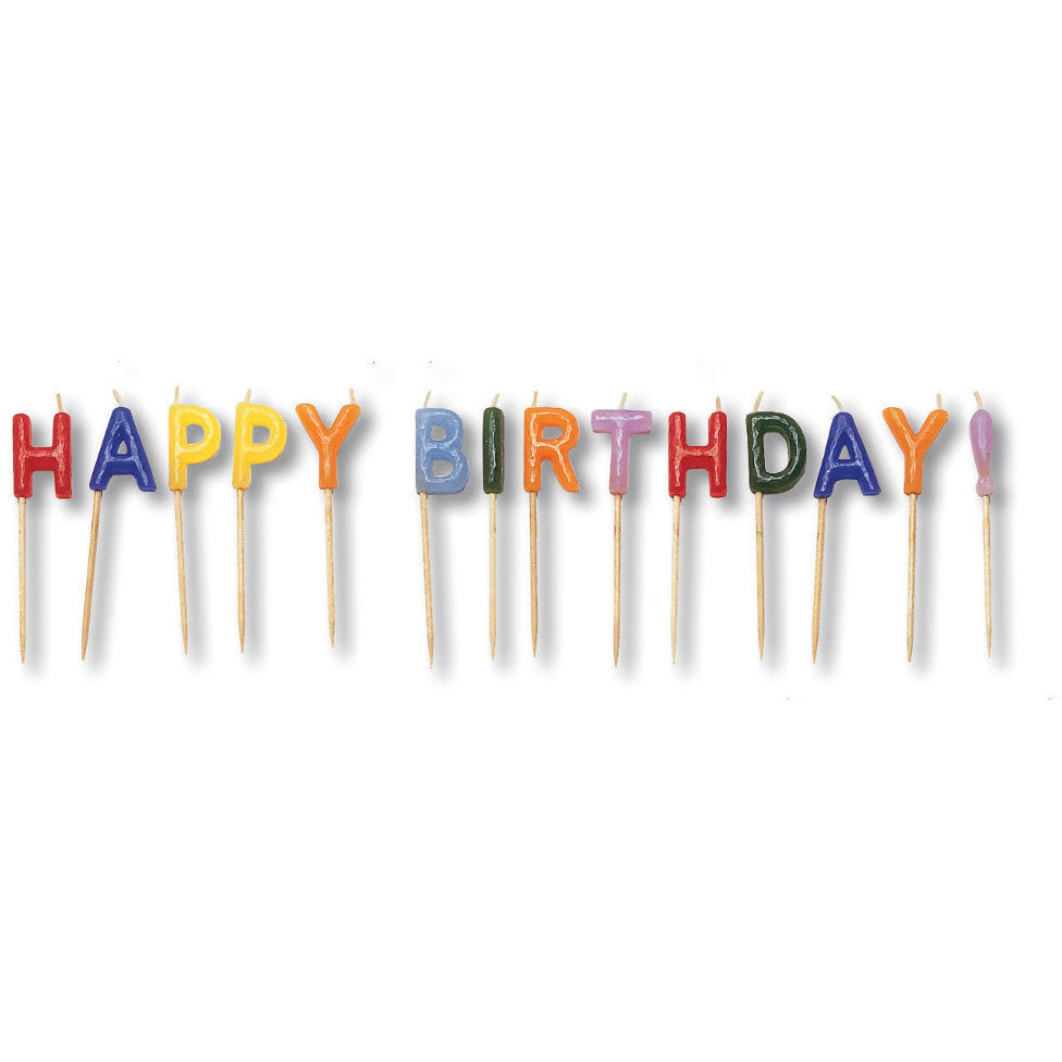 Happy Birthday Candle Pick Set