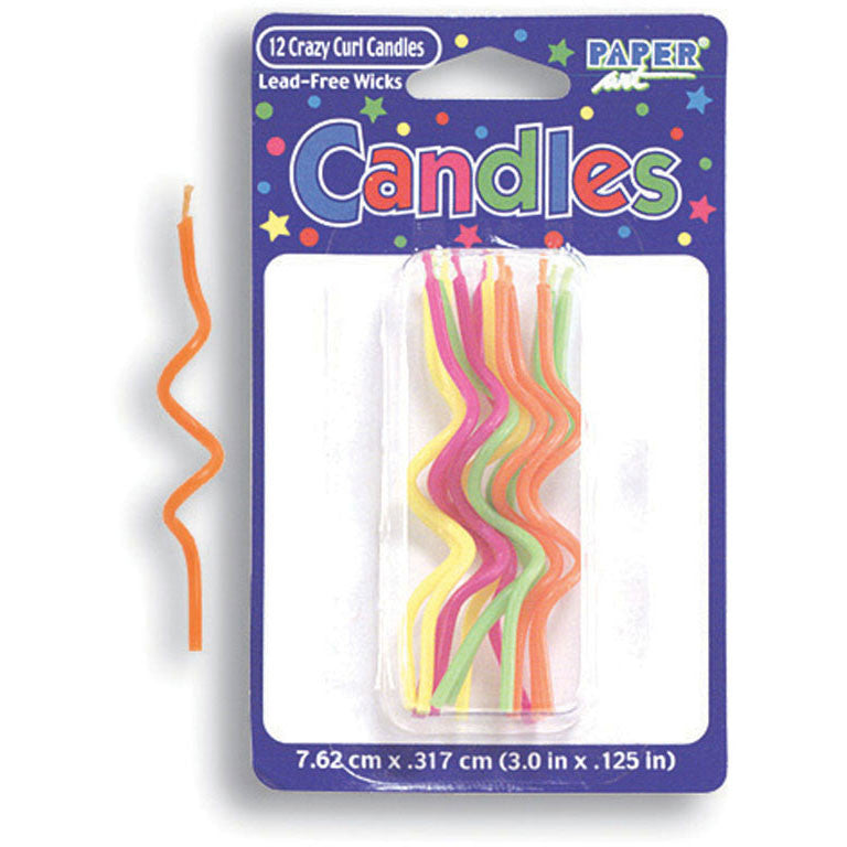 Crazy Curl Brights Stick Candles (12ct)