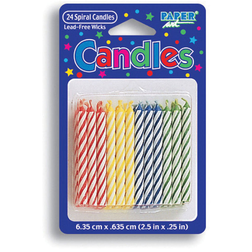 Primary Color Stick Candles (24ct)