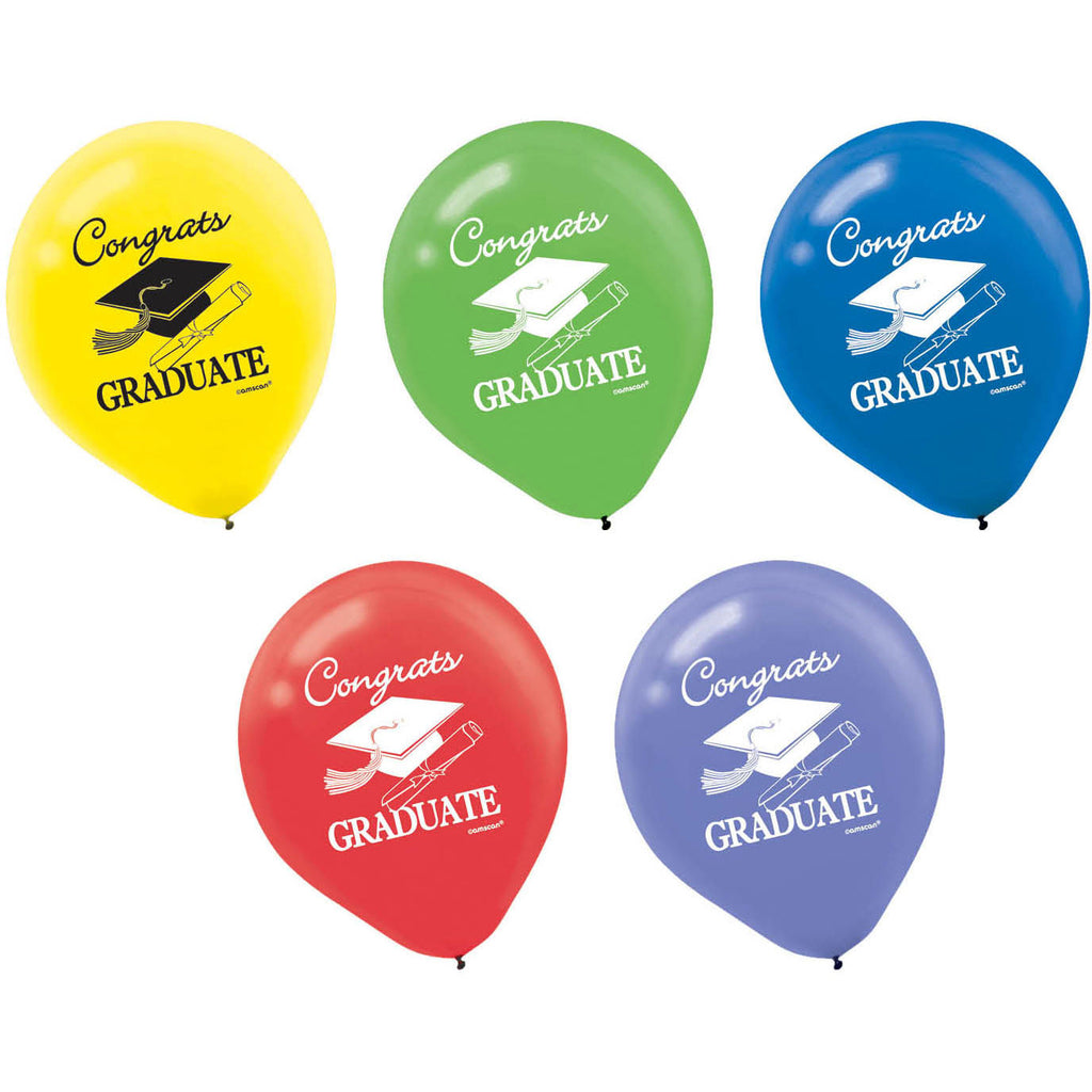 Multicolor Grad Latex Balloons