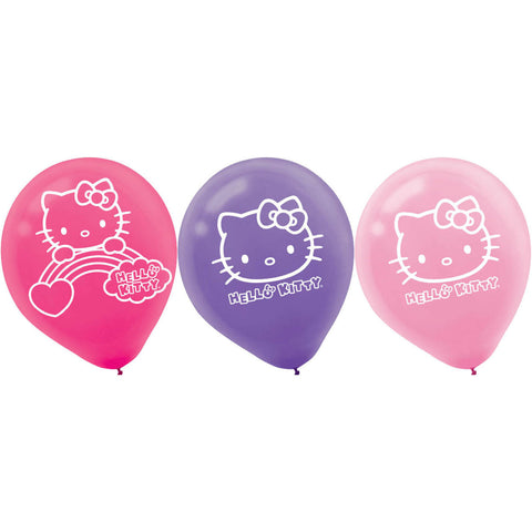 Hello Kitty Rainbow Latex Balloons