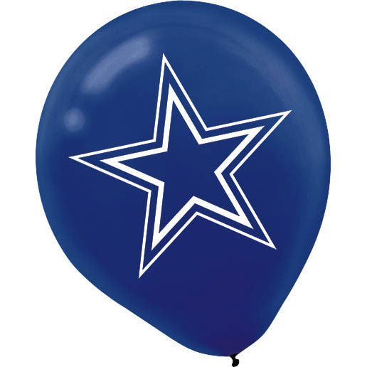 "12"" Dallas Cowboys Latex Balloons"