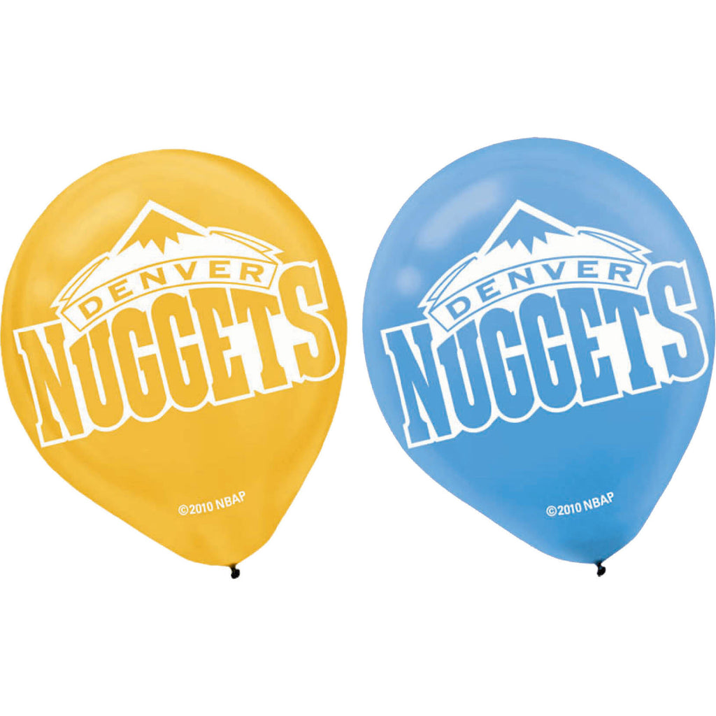 "12"" Latex Balloons 6 Ct- Denver Nuggets"