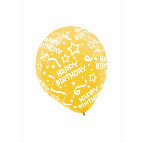 "Happy Birthday Assorted Latex Balloons, 12"" (20ct)"