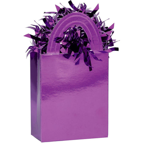 Mini Tote Balloon Weight- Purple