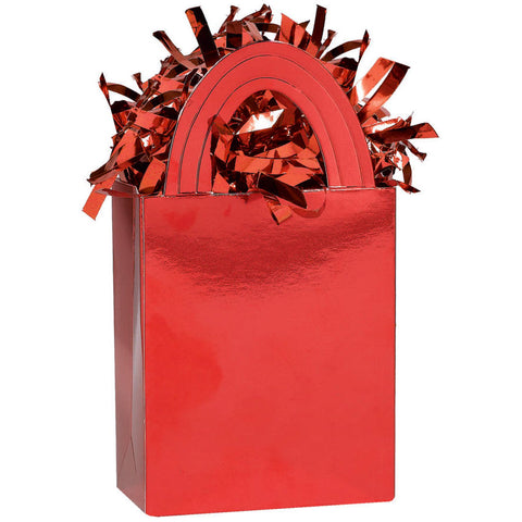 Red Mini Tote Balloon Weight