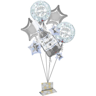 Silver Celebration New Year's  Bouquet of Balloons (5pc)