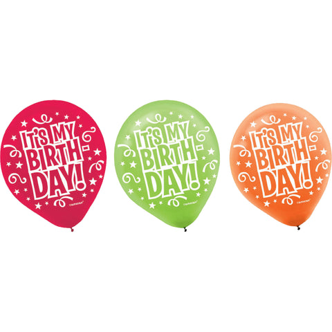 "It's My Birthday 12"" Latex Balloons (20ct)"
