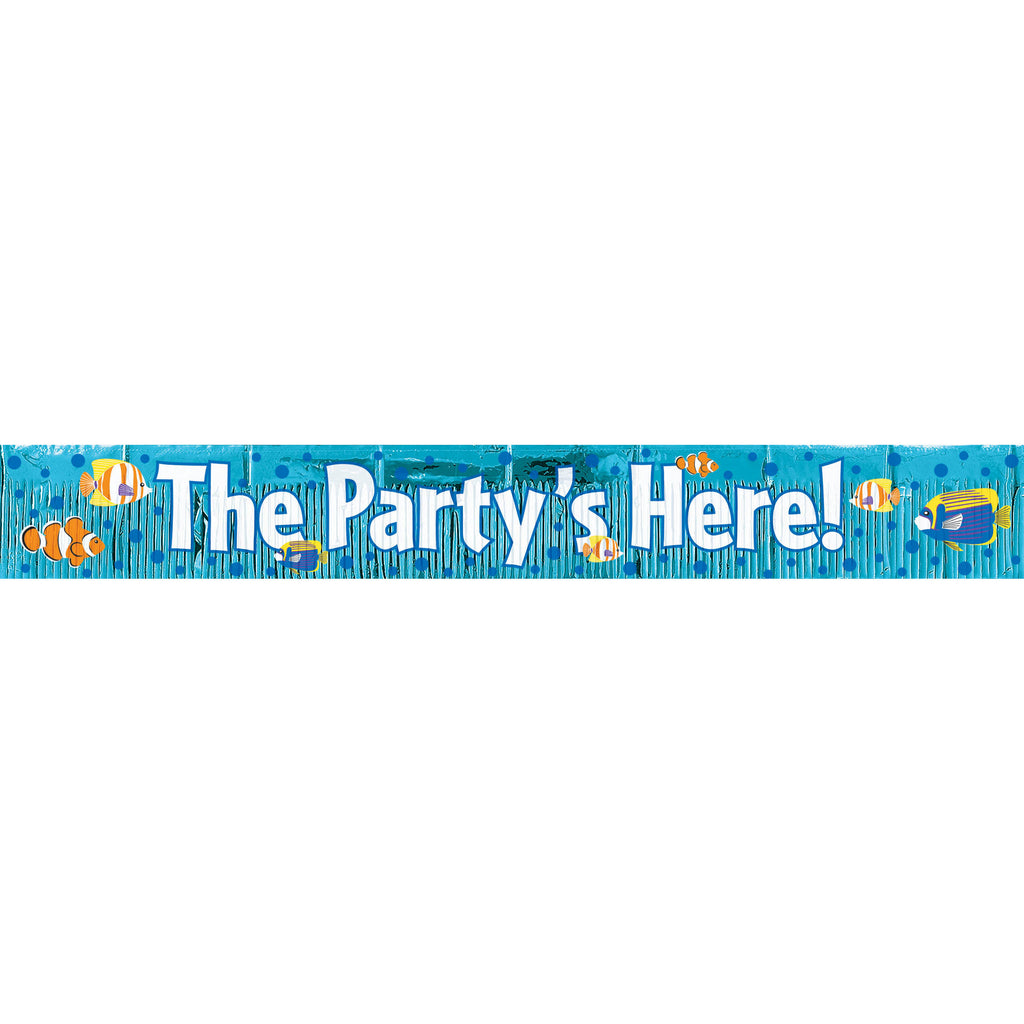 Fringe Tropical Party Banner