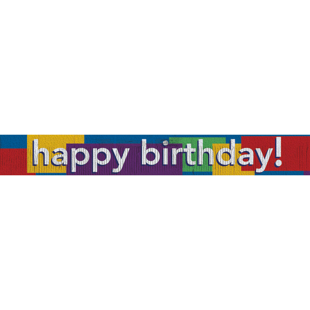 Prismatic Fringe Birthday Banner
