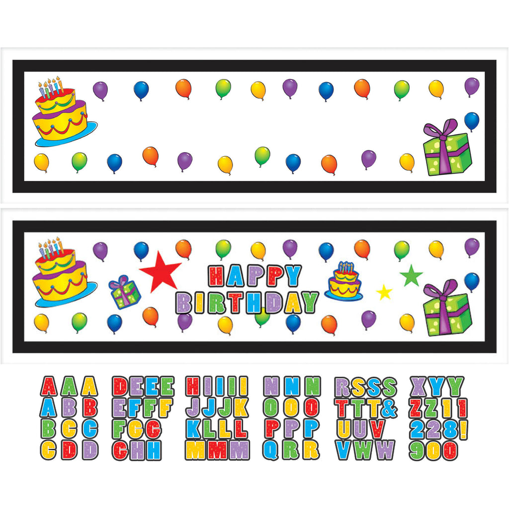 Happy Birthday Customizable Party Banner
