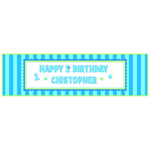 1st Birthday Boy Giant Sign Banner