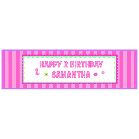 1st Birthday Girl Giant Sign Banner