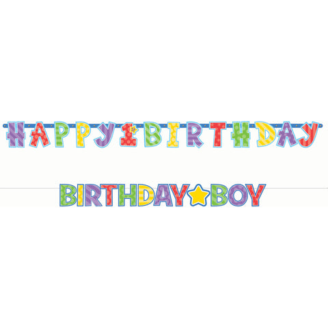 Birthday Boy Letter Banner Combo Pack