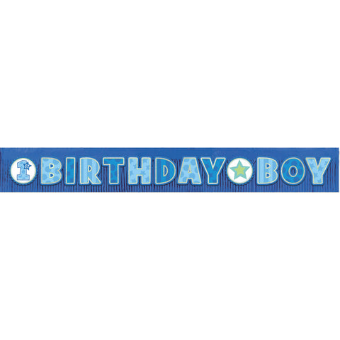 Birthday Boy Giant Glitter Fringe Banner