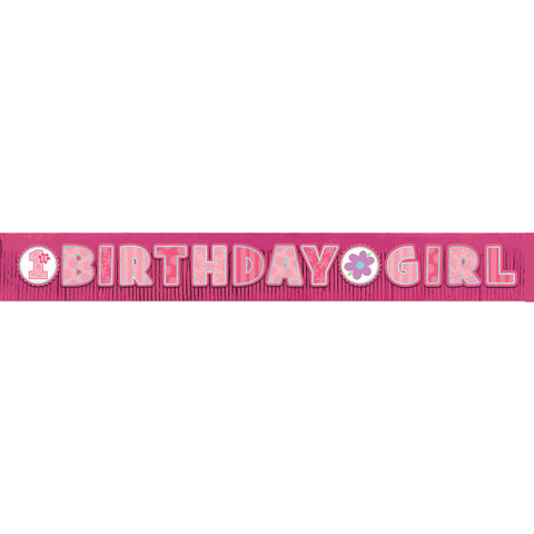 Birthday Girl Giant Glitter Fringe Banner