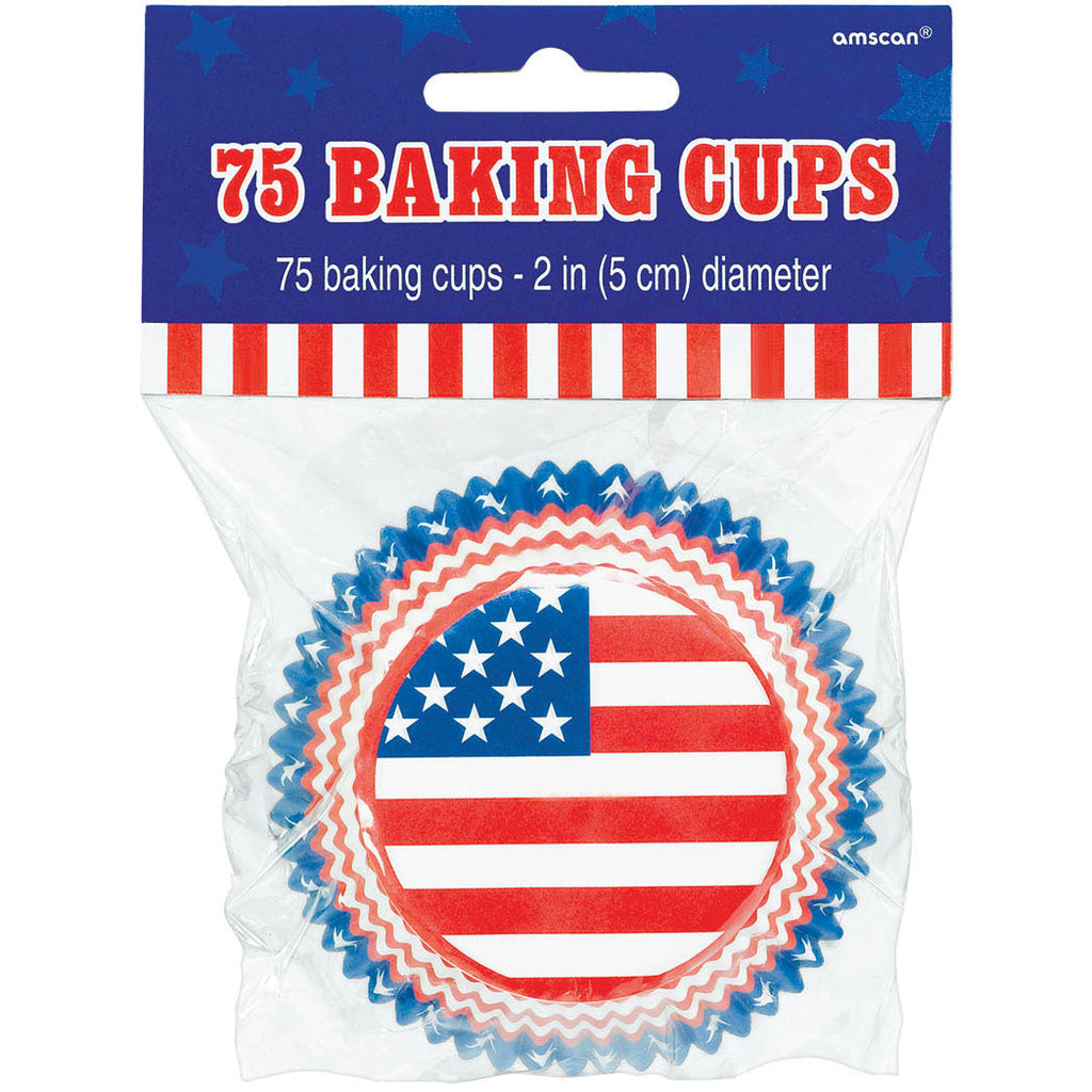 American Flag Baking Cups (75ct)
