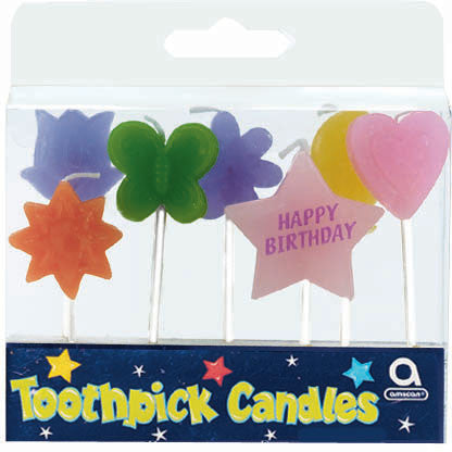 Birthday Shapes Pick Candles