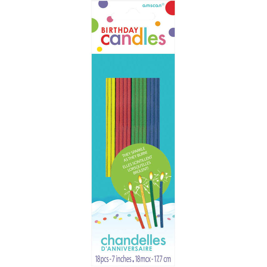 Sparkling Thin Stick Candles (18ct)