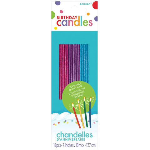 Glitter Sparkling Candles (18ct)