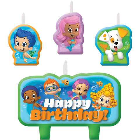 Bubble Guppies Birthday Cake Candles