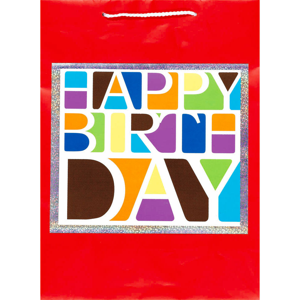 Happy Birthday Block Jumbo Gift Bag