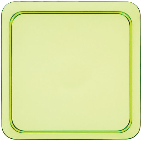 "Translucent Green 5"" Plastic Square Appetizer Plates (8ct)"