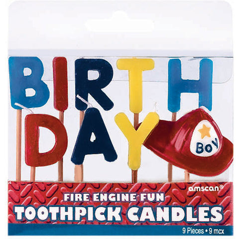 Fire Engine Fun Pick Candles