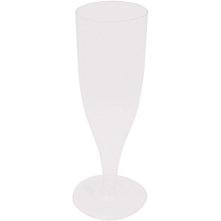 Clear Plastic Glasses, Champagne 4 oz