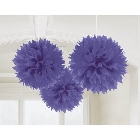 New Purple Fluffy Tissue Balls (3ct)