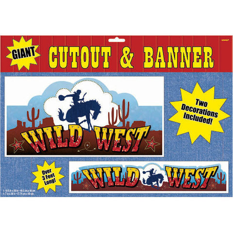 Western Giant Cutout & Banner Set (2 ct)