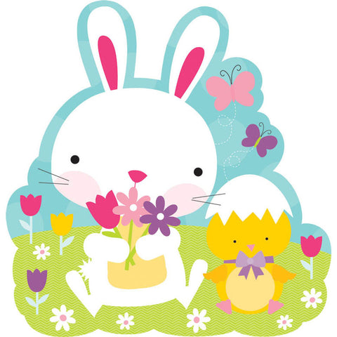 Bunny and Flowers Cutout