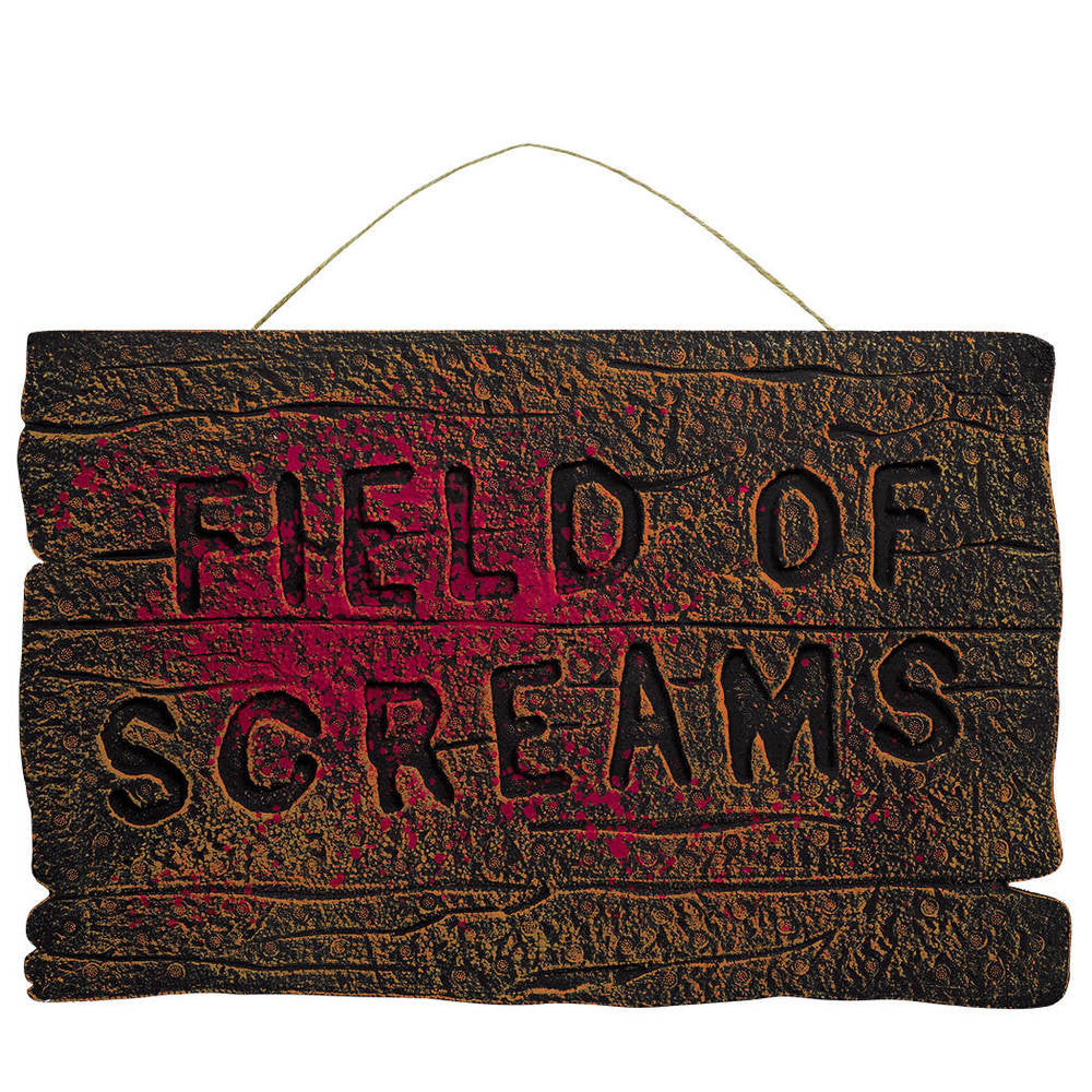 "Field of Screams Sign 14.5"" x 22"""