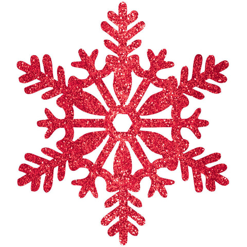"11"" Red Glitter Snowflake"