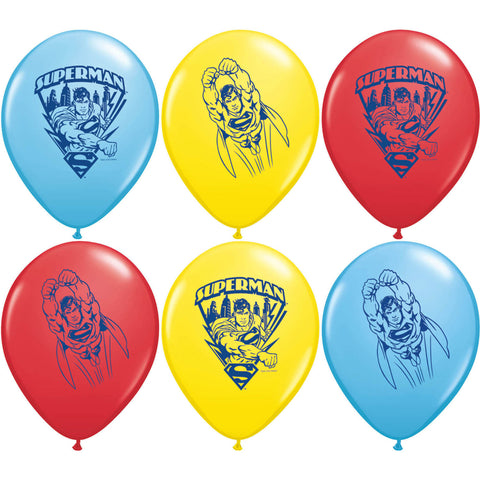 "12"" Superman Balloons (6ct)"
