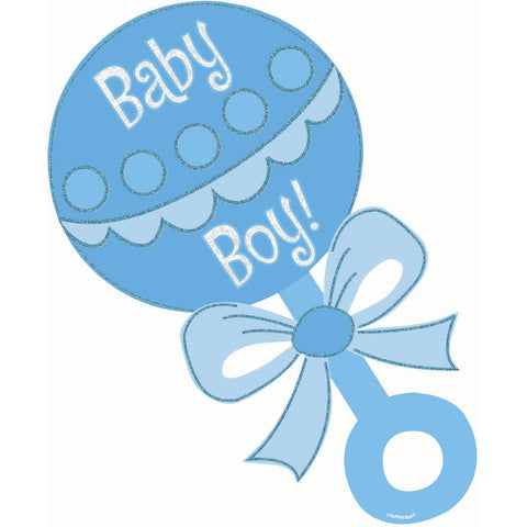 Baby Boy Glitter Cutout (1 ct)